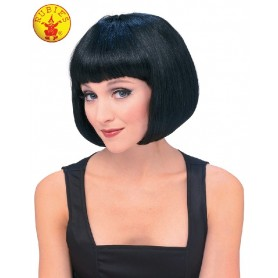 Supermodel Black Bob Wig - Adult