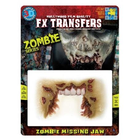 Zombie Missing Jaw 3D FX Transfer - Medium