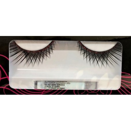 Black Lashes with Red Glitter Trim