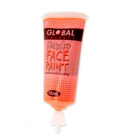 Fluro Orange Face Paint - 15mL Tube