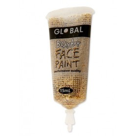 Gold Glitter Face Paint - 15mL Tube
