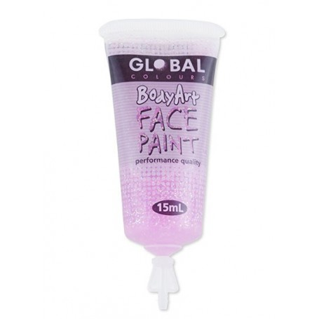 Pink Glitter Face Paint - 15mL Tube