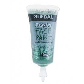 Green Glitter Face Paint - 15mL Tube