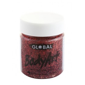 Red Glitter Face Paint - 45mL Tub