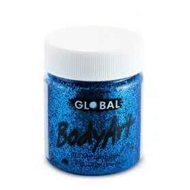 Blue Glitter Face Paint - 45mL Tub