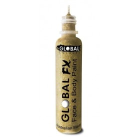 Global FX Face & Body Paint 36 mL- Soft Gold