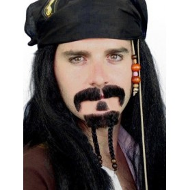 Moustache - 'Pirate' Mo & Beard Set