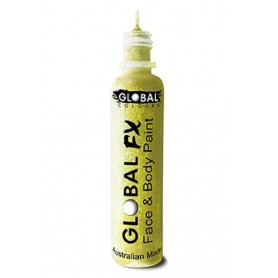 Global FX Glitter Gel 36 ml - Fluro/Neon Yellow
