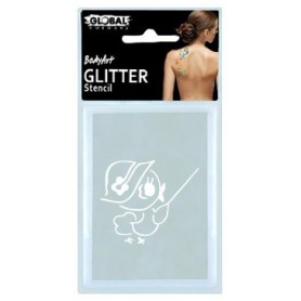 Global Glitter Tattoo Stencil - GS11