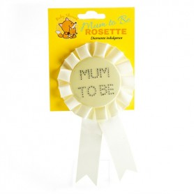 Baby Shower Mum To Be Rosette - Yellow