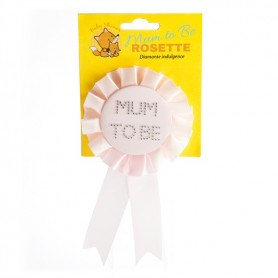 Baby Shower Mum To Be Rosette - Pink