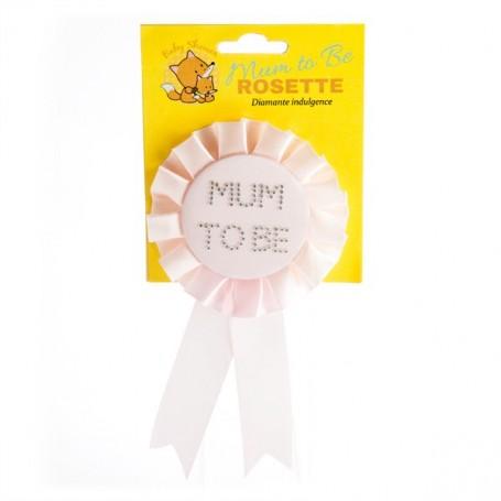 Baby Shower Mum To Be Rosette - Pink