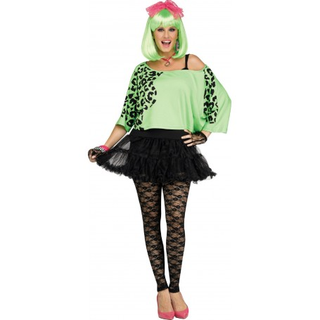 80s Crop Top - Neon Green