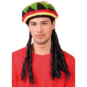 Rasta Beanie with Dreadlocks