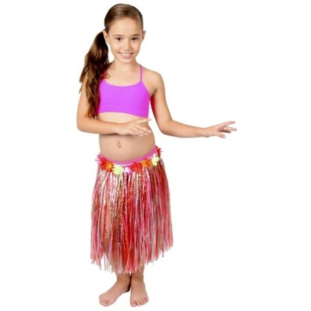 Hawaiian Hula Skirt - Multi Coloured