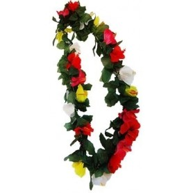 Hawaiian Lei - Hibiscus with leaves Deluxe