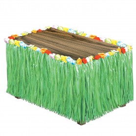 Artificial Grass Table Skirting - Green