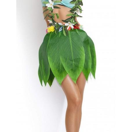 Leaf Skirt with flower trim