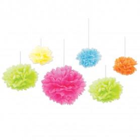 Tissue Fluff Balls - 6 Pack