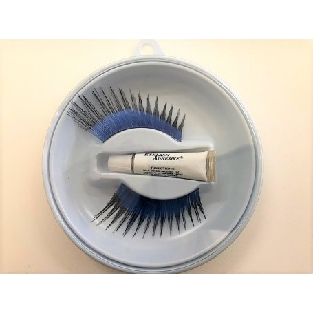 Long Sweep Lashes - Blue with Black Tips