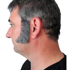 Sideburns - Thick Curved Dark Grey