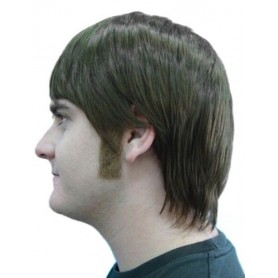 Sideburns - Straight Brown
