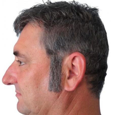 Sideburns - Straight Grey
