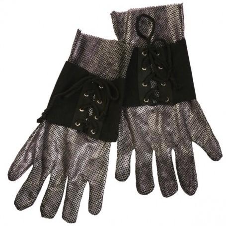 Medieval Knight Gloves - Adult