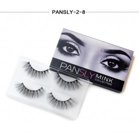 Pansly Mink Collection Strip Lashes  - 2-8