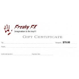Freaky FX $75 Gift Card