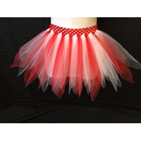 Tutu - Candy Cane (WITH WHITE BAND)