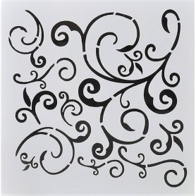 Stencil - Swirls and Curls