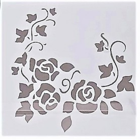 Stencil - Roses 3