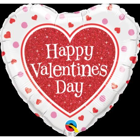 Valentine's Red Glitter Heart