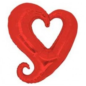 Chain of Hearts Red 90cm - 35.5inches