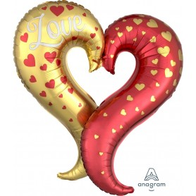 LOVE Curvy Heart - Foil Shape 73cm x 76cm