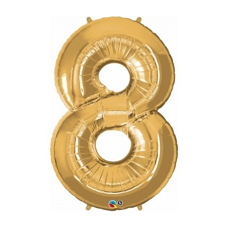 Number Eight Gold - Qualatex
