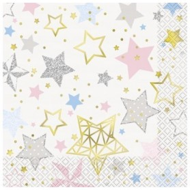 Twinkle Star 2 Ply Lunch Napkins - Pack 16