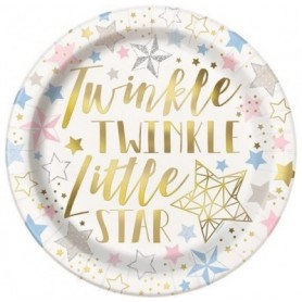 Twinkle Star 9in or 22cm. Paper Plates