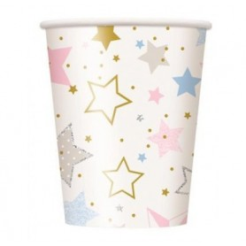 Twinkle Star 270ml Paper Cups  - 8 Pack