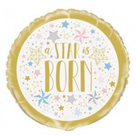 "Twinkle Star ""A Star is Born"" - Foil Balloon 18in."