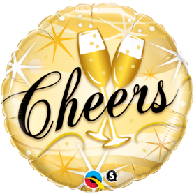 Cheers Star Bursts - Foil Balloon 18in.