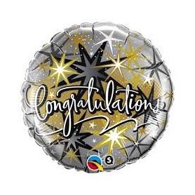 Congratulations Foil Balloon - Elegant Stars.