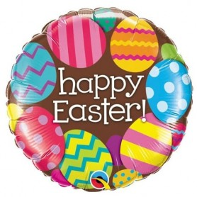 Happy Easter Chocolate Easter Egg - Foil Balloon 18in.