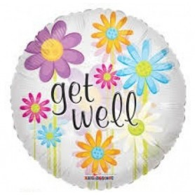 Get Well Flowers - Foil Balloon 18in.
