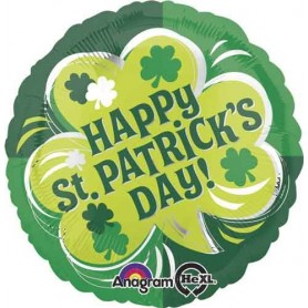 Happy St Patrick's Day Shamrock - Foil Balloon 18in.