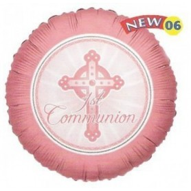 1st Communion Pink - Foil Balloon 18in.