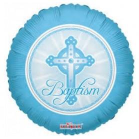 Baptism Blue - Foil Balloon 18in.