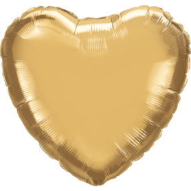 Chrome Foil Heart 18in. - Gold