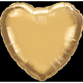 Chrome Foil Heart 18in. - Gold